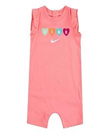 Baby Girls Knit Ruffle Sleeve Romper