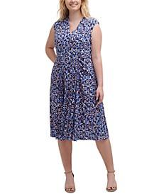 Plus Size V-Neck Ruched Dress