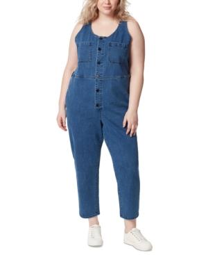 Trendy Plus Size Denim Jumpsuit