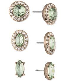 3-Pc. Set Crystal Halo Stud Earrings