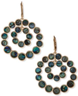 Gold-Tone Stone Orbital Drop Earrings
