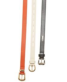 Women's 3pk Textured Belts