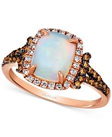 Neopolitan Opal (7/8 ct. t.w.) & Diamond (3/8 ct. t.w.) Ring in 14k Rose Gold