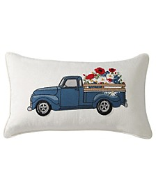 """Americana Truck 12"""" x 22"""" Decorative Pillow, Created for Macy's"""