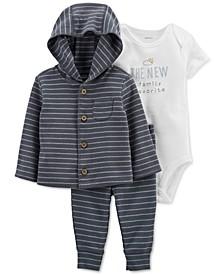 Baby Boys Three-Piece Little Cardigan Set
