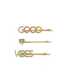 Good Vibes Bobby Pin Set