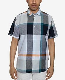 Men's Short Sleeves Oversized Plaid Shirt