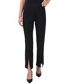 Split-Hem Straight-Leg Pants
