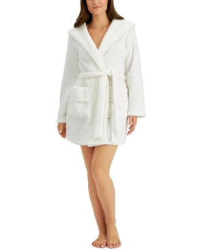 Women's Plush Hooded Robe