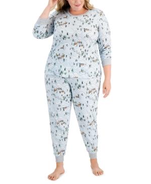 Plus Size Skiing Pajama Set
