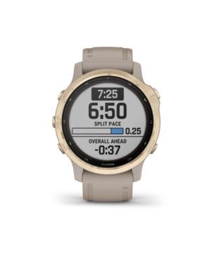 Unisex Fenix 6S Pro Solar Light Sand Silicone Strap Smart Watch 30.4mm