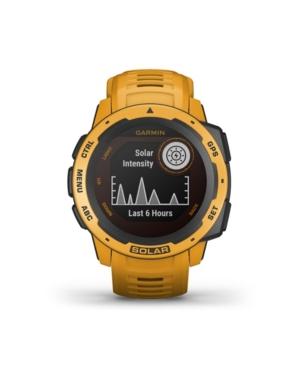 Unisex Instinct Solar Sunburst Silicone Strap Smart Watch 23mm