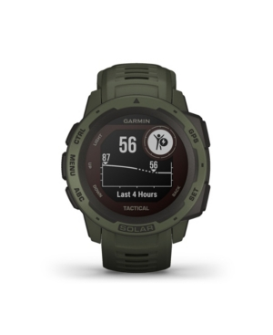 Unisex Instinct Solar Tactical Edition Moss Silicone Strap Smart Watch 23mm