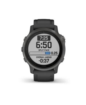 Unisex Fenix 6S Sapphire Black Silicone Strap Smart Watch 30.4mm