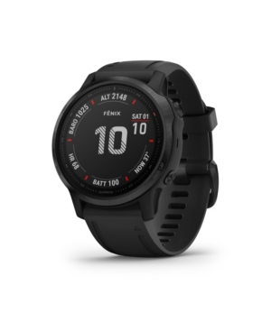 Unisex Fenix 6S Pro Black Silicone Strap Smart Watch 30.4mm
