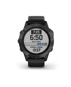Unisex Fenix 6 Sapphire Black Silicone Strap Smart Watch 33.02mm