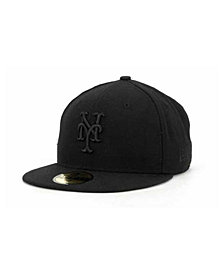 New Era New York Mets Black on Black Fashion 59FIFTY