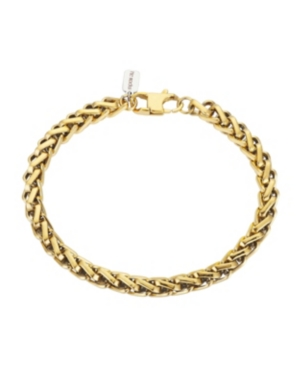 Gold Tone Stainless Steel 6mm Wheat Chain Bracelet