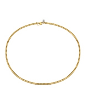 Brushed Gold Tone Stainless Steel 4mm Franco Chain Necklace