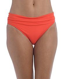 Shirred Banded Hipster Bikini Bottoms