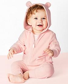 Baby Girls 3-Pc. Bear Little Jacket Set