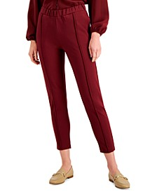 Petite Solid Seamed Cropped Pants, Created for Macy's