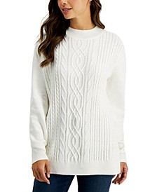 Petite Mock Neck Sweater, Created for Macy's