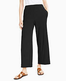 Petite Ribbed Wide-Leg Pants, Created for Macy's