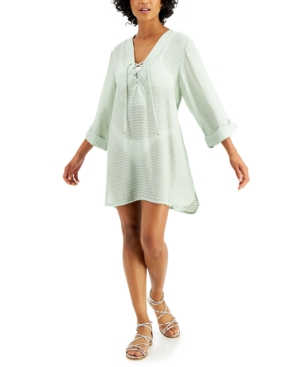 Lace-Up Tunic Cover-Up Women's Swimsuit