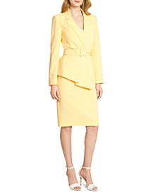 Belted Skirt Suit