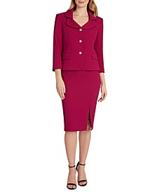 Collared Skirt Suit