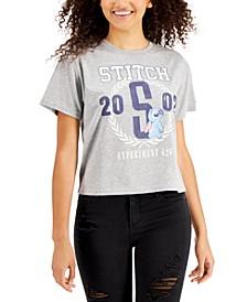 Juniors' Cotton Stitch Graphic Varsity T-Shirt