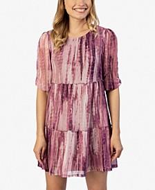 Juniors' Tie-Dyed Mesh Dress