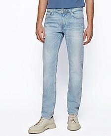 BOSS Men's Slim-Fit Blue Stretch Jeans
