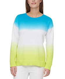Cotton Dip-Dyed Sweater