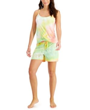 Tie-Dyed Cami & Shorts Loungewear Set