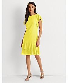 Petite Georgette Boatneck Dress
