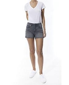 Women's High Rise Button fly 5-pocket Denim Shorts