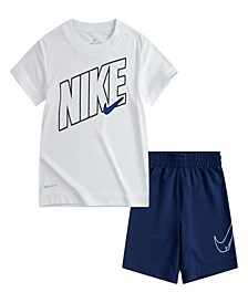 Little Boys Dry-Fit Comfort T-shirt and Shorts Set, 2 Piece