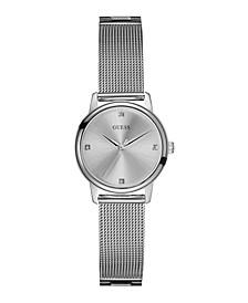 Women's Diamond Silver-Tone Mesh Watch 28mm