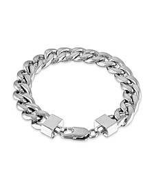 """Men's Cuban Link (11-3/4mm) 8 1/2"""" Chain Bracelet in Yellow IP over stainless steel (Also in Black IP and Stainless Steel)"""