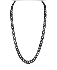 """Cuban Link (11.75mm) 22"""" Chain in Yellow IP plated Stainless Steel (Also in Black IP and Stainless Steel)"""
