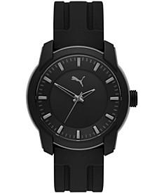 Men's Puma 2 Three-Hand, Gray-Tone Polycarbonate Watch, P6018