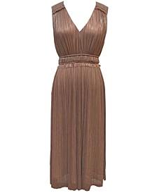 Plus Size Smocked-Waist Midi Dress