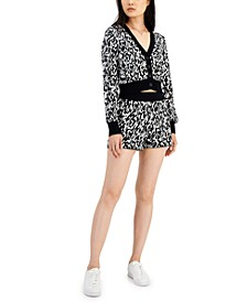 Jacquard Knit Cropped Cardigan, Created for Macy's
