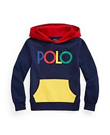 Big Boys Logo Color-Blocked Double-Knit Hoodie