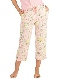 Printed Cotton Capri Pajama Pants, Created for Macy's