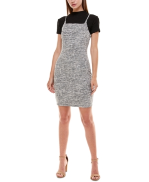 Juniors' Mock-Neck Bodycon Dress