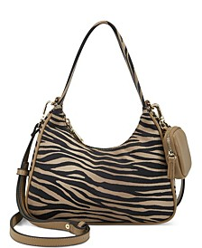 Zaree Zebra Shoulderbag, Created for Macy's