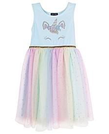 Little Girls Unicorn Rainbow Tutu Dress